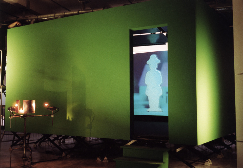 panoptical village, installation, zkm karlsruhe, surrogate, 1998